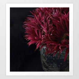 Burgundy Flower Bundles Art Print