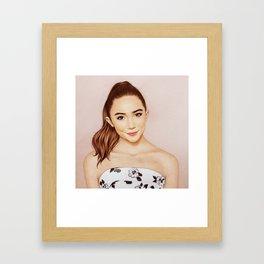 Rowan Blanchard x Glamour Framed Art Print