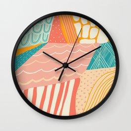 beach quilt Wall Clock