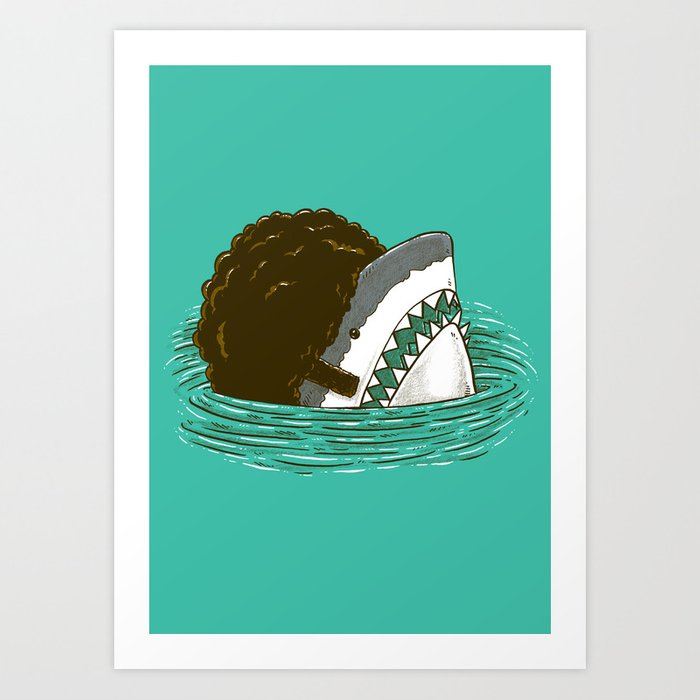 The 70's Shark Art Print