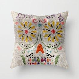 Calavera de Azucar II Throw Pillow