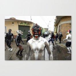 Lucha libre plateada Canvas Print
