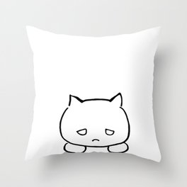 Emocat Throw Pillow