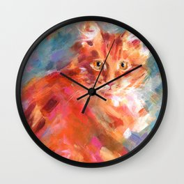 Orange Marmalade Wall Clock
