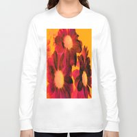 vintage flowers Long Sleeve T-shirts featuring Vintage Flowers Q by Vitta