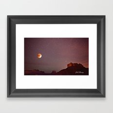 Blood Moon Eclipse over Sedona Framed Art Print