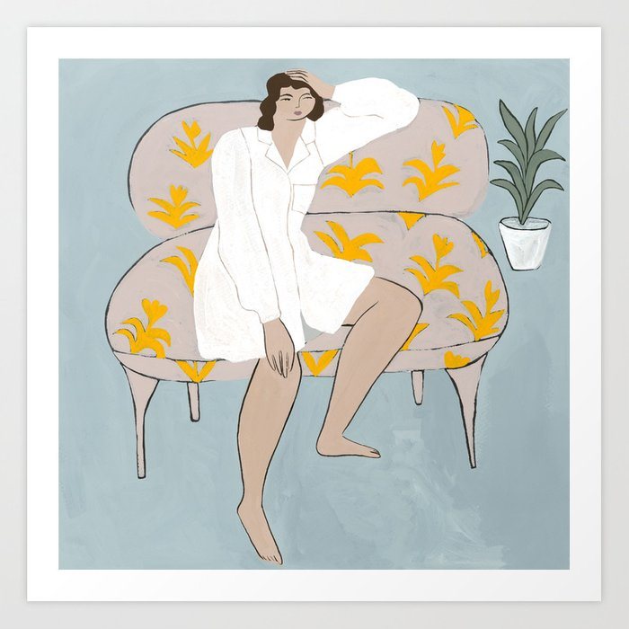 Wonderer on a Couch Art Print