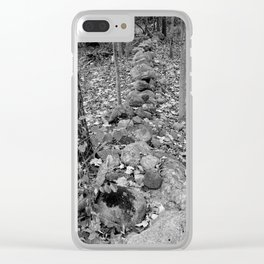 Wall in the Woods Clear iPhone Case