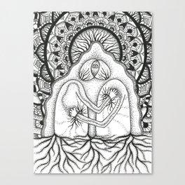 Interbeing (black & white) Canvas Print