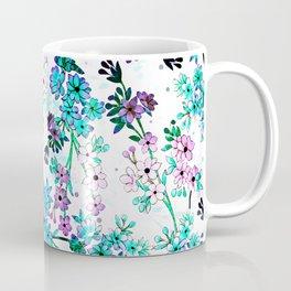 Turquoise Lavender Floral Coffee Mug