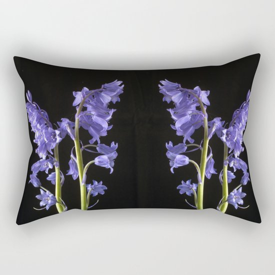 Bluebells, From the very Woods I Created! Rectangular Pillow