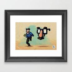 Use Verb on Noun #10: Zak McKracken and the Alien Mindbenders Framed Art Print