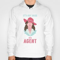 agent carter Hoodies featuring It's Agent by Courtney Yu