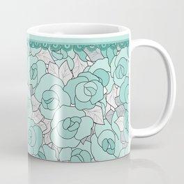 Retro Roses with lace Coffee Mug