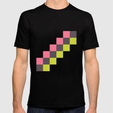 Stairs of Squares MEDIUM Mens Fitted Tee Black