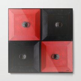 red and black design Metal Print