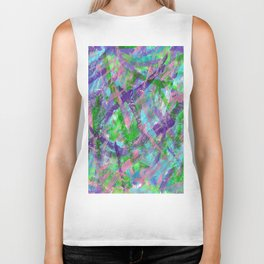 Spring Awakening Abstract Art Biker Tank