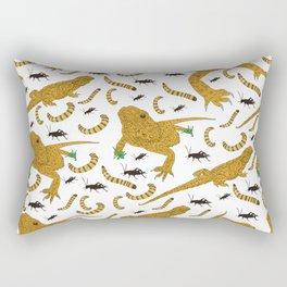 Large Bearded Dragon pattern Rectangular Pillow