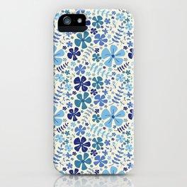 My Little Garden blue & green iPhone Case
