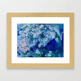 Imagined Ocean View From Above Framed Art Print