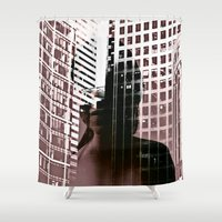 anonymous Shower Curtains featuring anonymous by MehrFarbeimLeben