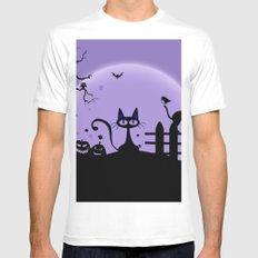 Cat Halloween-Nightmare Mens Fitted Tee White MEDIUM