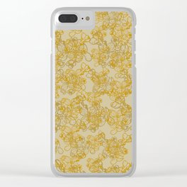 Tangled Flowers Clear iPhone Case