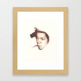 Jean-Michel Basquiat, the radiant one. Framed Art Print
