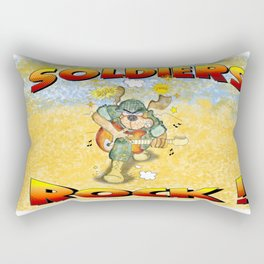 Soldiers Rock Rectangular Rectangular Pillow