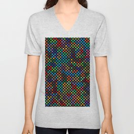 Squares Illusion Unisex V-Neck