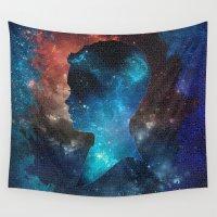brain Wall Tapestries featuring Brain Space by Ahmet Hacıoğlu