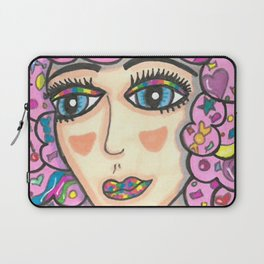 Cotton Candy Hair Girl Laptop Sleeve