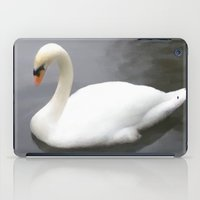 swan iPad Cases featuring Swan by IvanaW