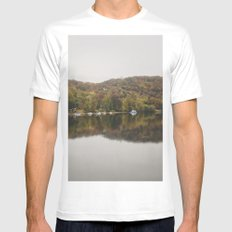 Autumn in New Hope MEDIUM White Mens Fitted Tee