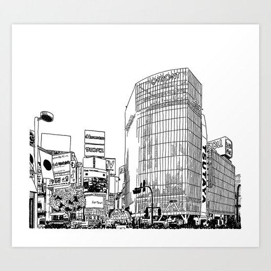 Tokyo - Shibuya Art Print