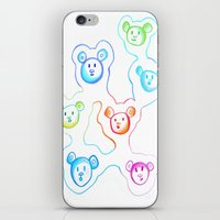 bears iPhone & iPod Skins featuring Bears by Angelz