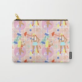 Neon 80's Fitness in Pastel Carry-All Pouch