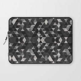Monochrome Geometric Triangle Pattern Laptop Sleeve