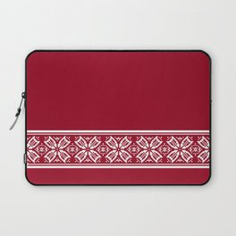 Red Jacquard Laptop Sleeve