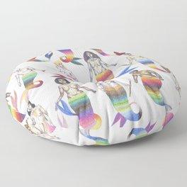 mermaid army Floor Pillow