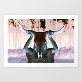 Gypsy Steer Clear Art Print