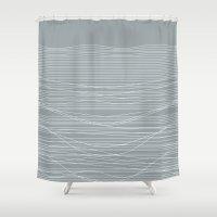 Unstable Lines Shower Curtain