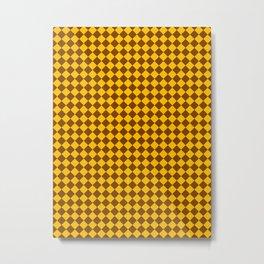 Amber Orange and Chocolate Brown Diamonds Metal Print