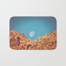 Moon over Anza Borrego Bath Mat