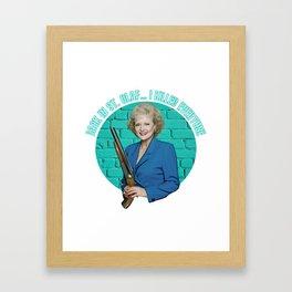 Golden Girls- Betty White Framed Art Print