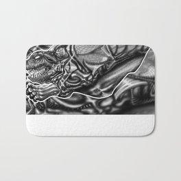Feral Greyscale - Giger Tribute Bath Mat