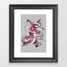 Hungry Fox Framed Art Print