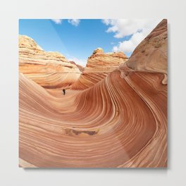 The wave, Arizona, USA. Metal Print