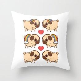 Puglie Pride Throw Pillow