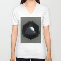 gem V-neck T-shirts featuring Dark Gem by DuckyB